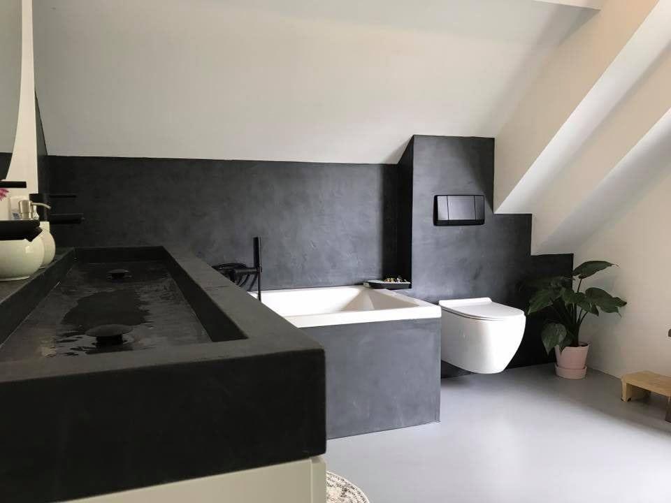 Stuc Deco Badkamer : Stucdeco badkamer in eefde ecowonen