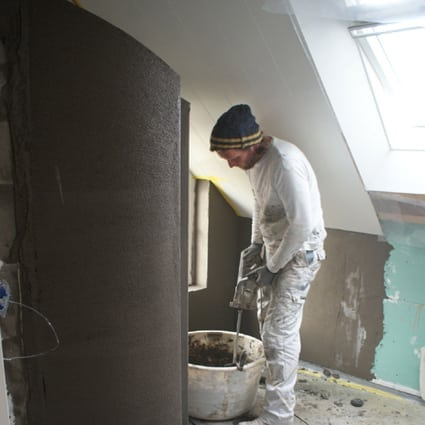 Deco beton cir awesome badkamer met beton cire kleine badkamer beton cir vrijstaand bad foto - Kleine badkamer leroy merlin ...