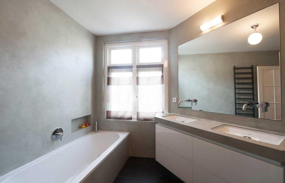 Badkamer Met Beton : Beton cire badkamer in amsterdam ecowonen