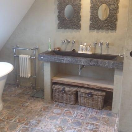 Ecowonen fraaie stucdeco badkamer in didam - Deco voor terras ...